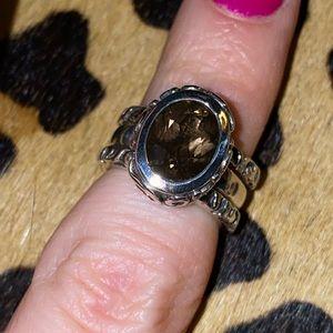 Silpada Smokey Quartz Stackable Rings Sterling
